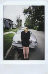 Day 028 (H o l l y.) Tags: street houses summer portrait film car analog self vintage lomography fuji mini retro indie instant instax lomoinstant