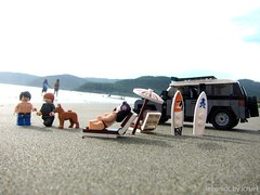 From Baler with Love (icycruel) Tags: summer vacation beach waves lego outdoor picture surfing rangerover moc