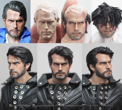 Henry Cavill real hair and beard. (-Sebastian Vargas --) Tags: chile man men scale hair beard real toys one doll action henry figure 16 mueco resin custom juguete realistic implant decadent glued repaint cavill sisxth cosmicolor
