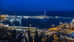 2091 Puerto de Barcelona (Ricard Gabarrs) Tags: barcelona panorama water puerto mar agua barco playa olympus nocturna nocturno airelibre ricgaba ricardgabarrus