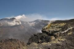 Looking Into The Steaming Bocca Nuova (Derbyshire Harrier) Tags: volcano spring mediterranean steam gas crater sicily sulphur geology etna 2016 mountetna activevolcano fumaroles boccanuova