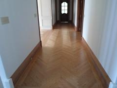 Hallway (SuperiorFloors) Tags: floors oak hallway lakegeorge custom flooring redoak hardwood herringbone