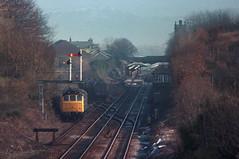 Ulverston Shunt (Dave McDigital) Tags: yard rat goods 25 signal ulverston semaphore 25309 class25
