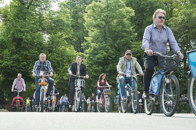 Biking through green Leipzig