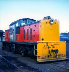 DSC 2082 06/09/1983 Auckland, NZ (DX 5517) Tags: newzealand auckland switcher shunter bth 2082 nzr dsc2082 britishthomsonhouston dscclass britishexportlocomotive