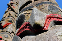 Eyes of the Totem (N Medd) Tags: eye art architecture wooden eyes spirit first totem pole nations anthropology cultural