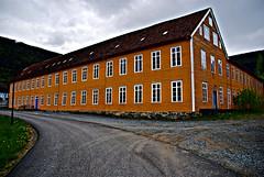 Gammel tekstilfabrikk -|- Old textile factory (erlingsi) Tags: building norway factory norwegen stryn oker bygning ocher sognogfjordane timberbuilding innvik tekstilfabrikk indvikenuldspinderi