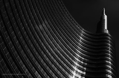 IMGP8567 ([masterleo]) Tags: bw architecture monocromo pentax milano minimal grattacielo unicredit