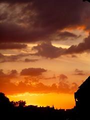 Copenhagen Summer Sunset.... (tvedepigen) Tags: city sunset summer sky urban orange sun colors beautiful yellow skyline clouds copenhagen evening colorful shadows purple roofs siluettes