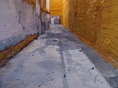 streets of cartagena (maximorgana) Tags: door orange dirty cartagena attheendof trashbit streetsofcartagena