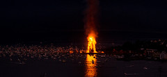 Guinness World Record - See The Face In The Flame (jforberg) Tags: world party records water norway night fire midsummer guinness celebration bonfire lesund aalesund 2016 slinningsblet