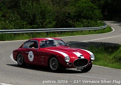 DSC_6574 - Fiat 8V Zagato - 1953 - Gadioli Aldo - Zagato Car Club (pietroz) Tags: silver photo foto photos flag historic fotos pietro storico zoccola 21 storiche vernasca pietroz