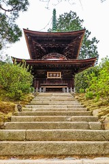 Jojakko-ji II (Douguerreotype) Tags: japan stairs garden temple pagoda kyoto shrine buddhist steps
