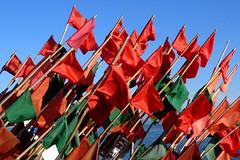 Flags... (radimersky) Tags: camera blue red sky green port harbor fishing europa europe day harbour outdoor sony poland polska cybershot flags float zielony dzie compact krynica morska czerwony niebieskie niebo pomorze pomorskie pywak mierzeja rybacki wilana chorgiewki dschx60 3840x2560