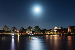 A Moonlit World Showcase Lagoon (MattStemerman) Tags: worldshowcase d750 nikon waltdisneyworld disney epcot moon epcotcenter wdw moonlight disneyworld