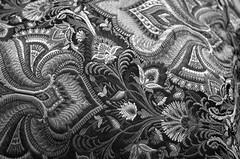 Saree (shobanjayaraj) Tags: bw texture pattern saree 2016 week25 photochallengeorg