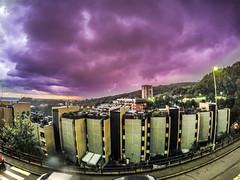 Hero4Black on storm_ (diepegiz) Tags: light lighting lampi pegli 2 genova gopro go pro hero blackedition 4 cloud purple sky street country