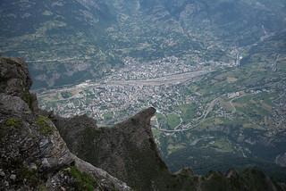 Glishorn . 1847 meters to Brig (vertical)