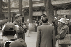 People of Kunming (canant.tepatipya) Tags: kunming china sepia sepiatone monochrome