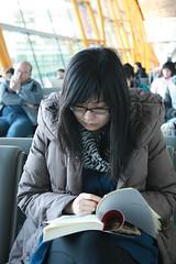 glasses and book (mrlenours) Tags: china canada high airport highheel dress air capital flight beijing international heel 北京 中国 attendant chine aircanada pekin pek 北京首都国际机场 zzba