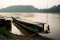 Luang Prabang (Lars Pohlmann) Tags: travel river photography boat blog asia seasia southeastasia flickr slideshow laos mekong luangprabang