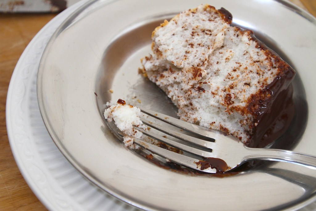black & white angel food cake