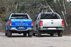 Toyota HiLux Vs Volkswagen Amarok Comparison Test (NRMA New Cars) Tags: cars vw flickr offroad 4x4 diesel review images turbo mind toyota suv comparison hive newcars amarok motoring hilux carphoto motorvehicle cartest toyotahilux carreviews carsguide nrmanewcars volkwagenamarok