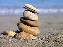 Beach macro composition 4 (Romeodesign) Tags: sea macro beach stone spain sand shell clam pebble zen seashell balance