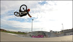 Polden Shredding (Damon Colbeck) Tags: bmx air skatepark tasmania tassie tabo callum devonport boost taybo polden