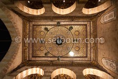 Egypt . Cairo : =madrassa of As Zahir BARQUQ mosque .  the ceiling of the iwan after restoration . in sharia Al Mu'izz LI DIN Allah street    islamic Cairo     NM428 + (setboun photos) Tags: africa wood city art architecture handicraft town muslim islam religion decoration egypt middleeast nobody nopeople mosque cairo cupola mosquee capitale ville bois egypte publication islamicarchitecture afrique marquetry arabesque craftmanship islamicart religiousart coupole artisanat cairomosques placeofworship musulman capitalcity decoratedceiling geometricshape artreligieux artisanship arabesk religiousarchitecture moyenorient lecaire architecturereligieuse alquahira aglomeration arabcountry lieudeculte aucunepersonne artislamique religionmusulmane paysarabe cairobook magazineprintout barquqmosque plafonddecore
