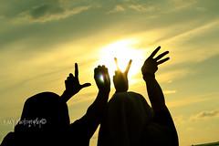 LOVE (PaiOrange) Tags: sunset sky sun love beach hijab borneo malaysian sabahan