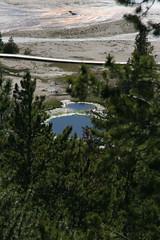 Overlook of Old Faithful Geyser Basin (rickweller) Tags: yellowstonenationalpark hotsprings geyserbasin oldfaithfuloverlook