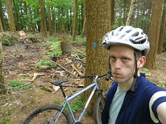 MTB'ing is hard (Riemanello) Tags: forest denmark tired mtb rider 29er singular
