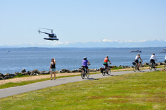 DSC_6835 (citywalker) Tags: seattle may bicycles helicopter elliottbay 2012 myrtleedwardspark maritimefestival