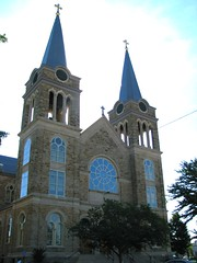 Sacred Heart Catholic Church in Cullman, Alabama (bluerim) Tags: alabama catholicchurch sacredheart germanamerican romanesquestyle cullmanal