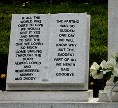The children of Aberfan (Peter Denton) Tags: uk cemetery grave wales children memorial europe cymru eu disaster lettering goodbye inscription rhondda ncb aberfan coaltip
