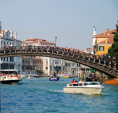 Venice - A Partial View of the Ponte dell'Accademia