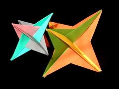 Two stars (Aneta_a) Tags: origami fuse planar modularorigami tomokofuse octahedralsymmetry