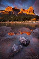 Haling Peak Ablaze (Luke Austin) Tags: autumn canada fall rockies rainbow alberta rockymountains canmore alpineglow soulscape lukeaustin