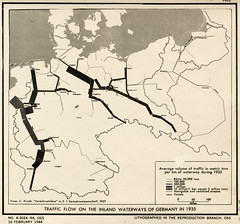 Inland Waterways of Germany (Donald W. Hamer Center for Maps & Geospatial Infor) Tags: germany waterways oss inlandtransportation