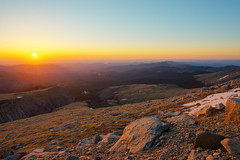 Sunrise at 14,000 Feet (wellscenephotography (ON)) Tags: usa sunrise golden nikon colorado unitedstatesofamerica hour rockymountains 14er hdr 2012 mountevans d800 idahosprings