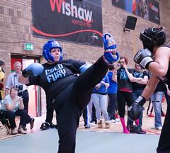 Audrey 2 (bobsfever) Tags: uk blue red male kids female scotland team unitedkingdom kick indoors gloves punch adults armature weight kickboxing dumfries headgear wishaw coldfury matdumfriesandgalloway