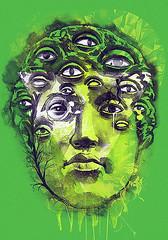 SEER (dzeri29) Tags: art eyes drawing surreal vision