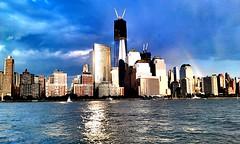 Lower Manhattan seen from the Hudson River (Arutemu) Tags: street city nyc newyorkcity travel urban panorama usa ny newyork america us cityscape view manhattan scenic ciudad scene american scenes nuevayork   travelhdr