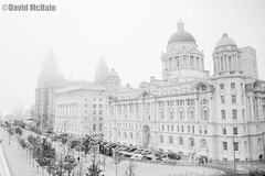 Fogy Morning (DaveMcHaleLiverpool) Tags: liverpool blackwhite 3graces