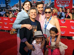 Cesar Bono, Mexican actor and comedian with his family.