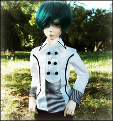 :: Edward :: (Bunraku Doll) Tags: boy cute outfit student doll head ns edward sd event junior bjd 人形 dollfie superdollfie luts delf 13 limited sd10 abjd 娃娃 学生 2011 男の子 tealhair normalskin lightspear