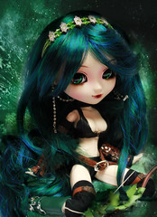 Themis (Konato) Tags: blue green eyes wig pullip blanche custo amazone dashka thmis konato