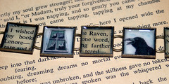 Recycled book bracelet - The Raven (thebookishlife) Tags: text literary raven edgarallenpoe recycledbookthebookishlife