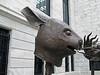 Cleveland Museum of Art 03-16-2014 - Chinese Zodiac 11 - Rabbit (David441491) Tags: rabbit statue bronze chinese zodiac clevelandmuseumofart